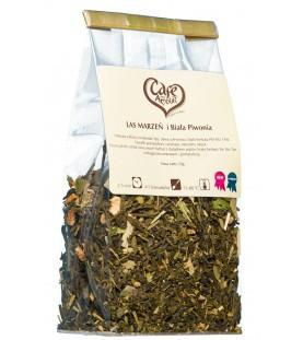 Herbata zielona Las marzeń i Biała piwonia 50g.
