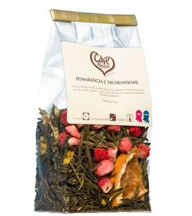Herbata zielona Pomarańcza z Truskawkami 50g.
