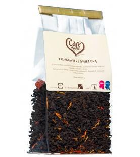 Herbata czarna Truskawki ze śmietaną 50g.